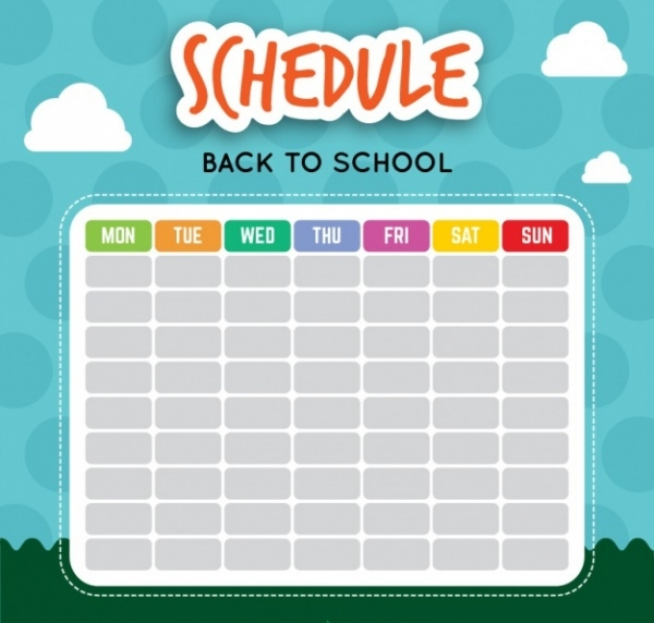 School Calendar Background