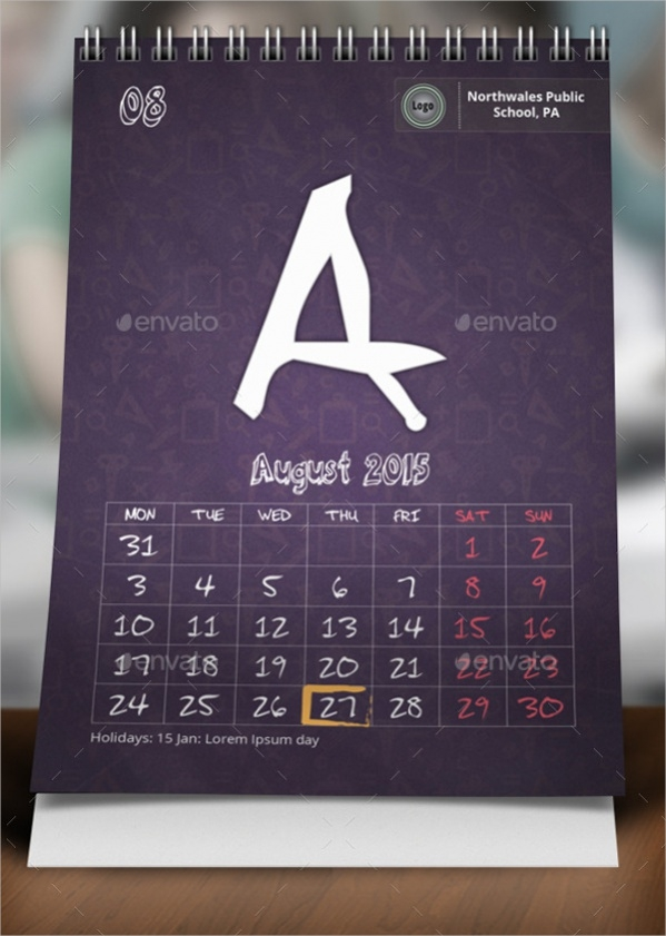 16+ School Calendars - Psd, Vector Eps Download