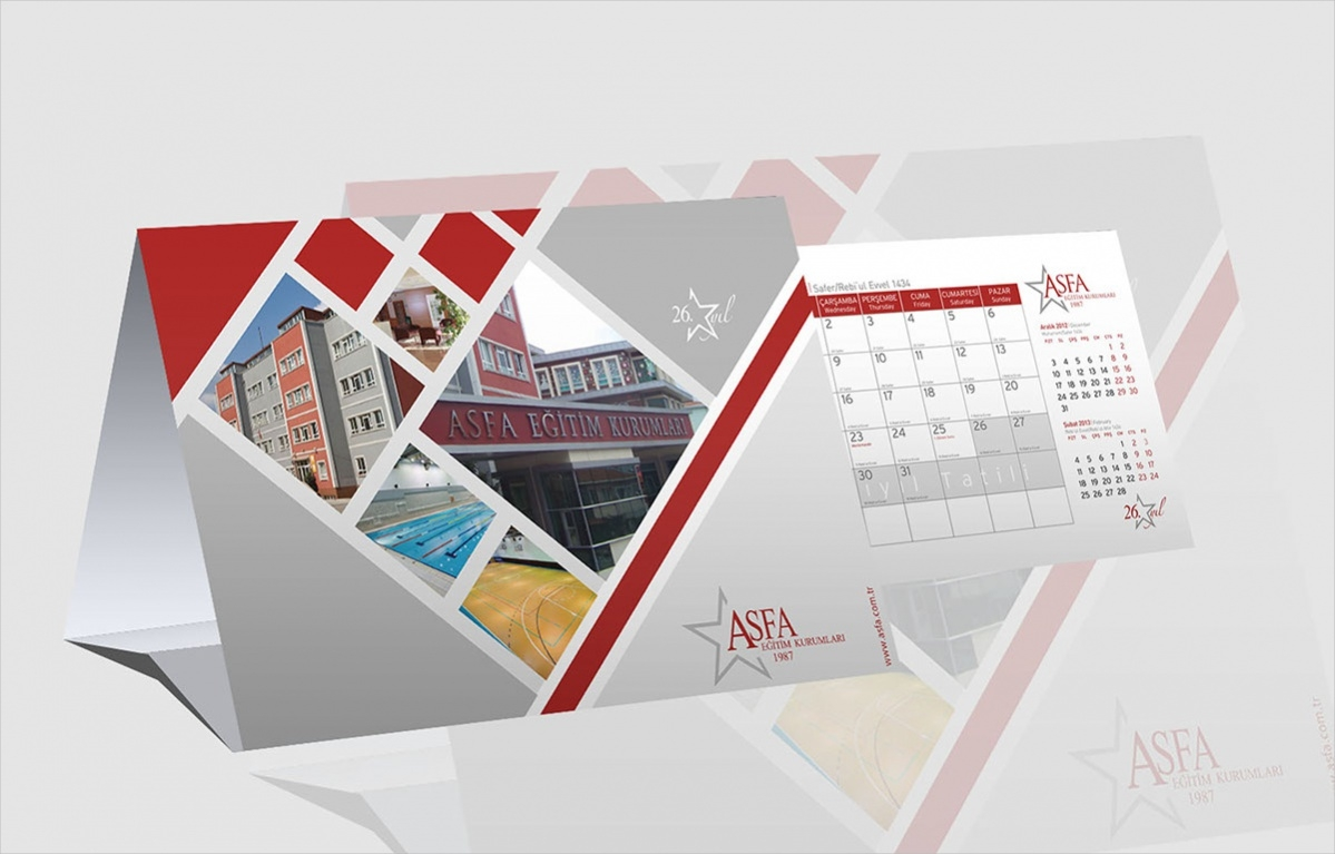 School Desk Calendar