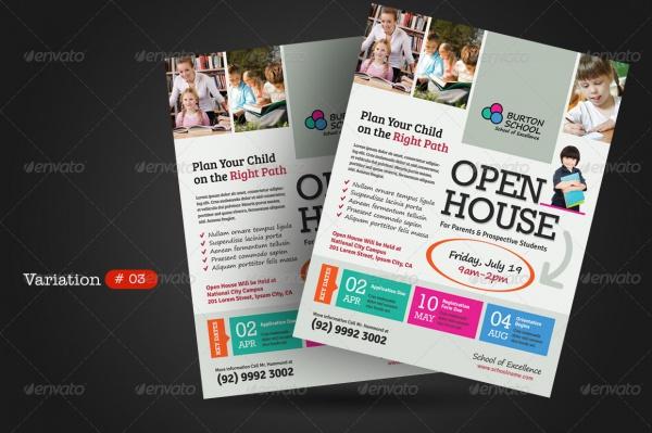 School Open House Flyer