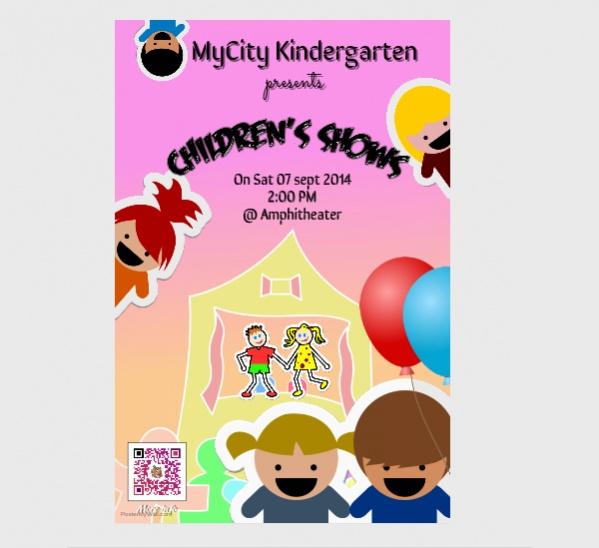 Kindergarten Poster Design