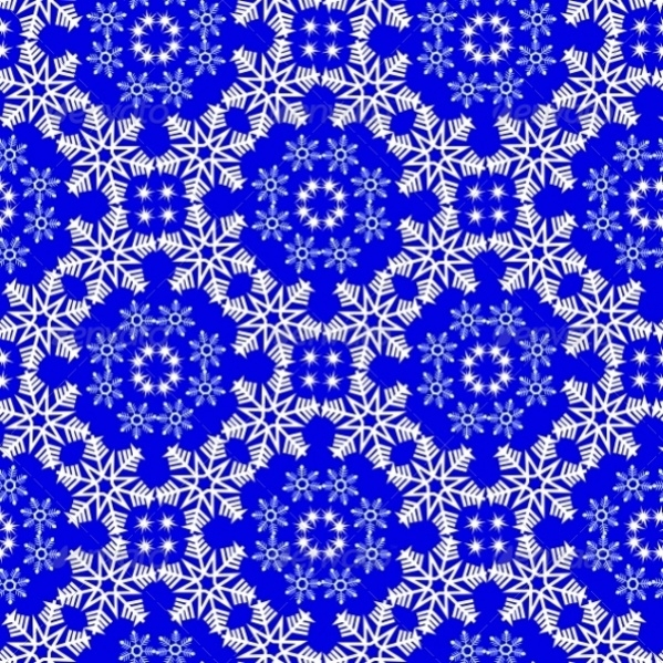 Seamless High Quality Snowflake Pattern