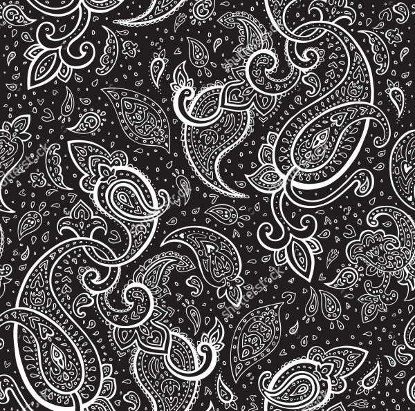Seamless Paisley Pattern Background