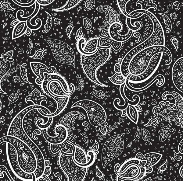 Seamless Paisley Pattern Background