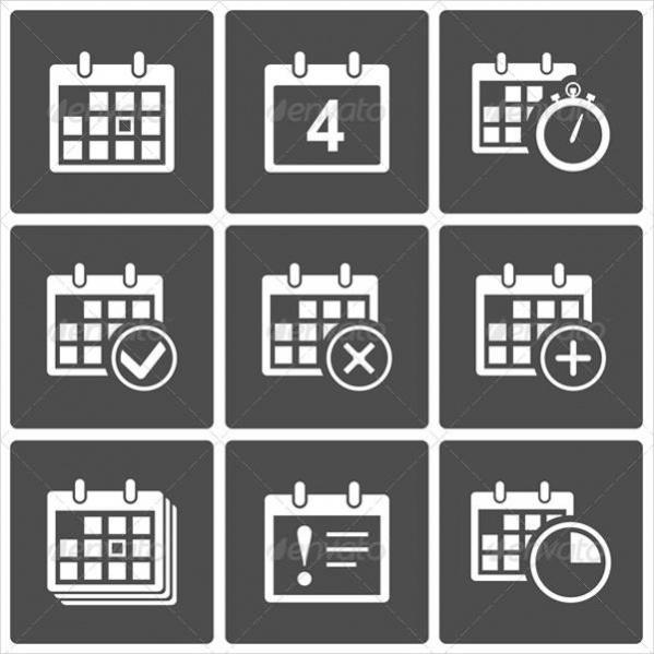 Set Of Calendar Icons