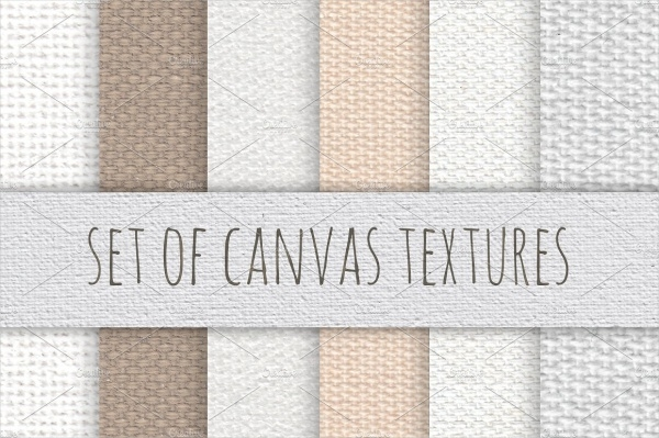 Set Of Canvas Textures