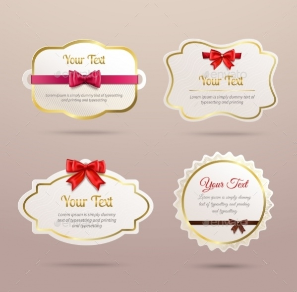 Set Of Gift Labels