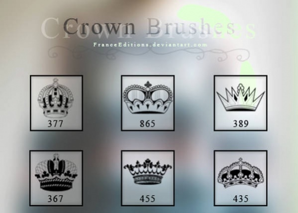 Set of 6 Crown Brushes