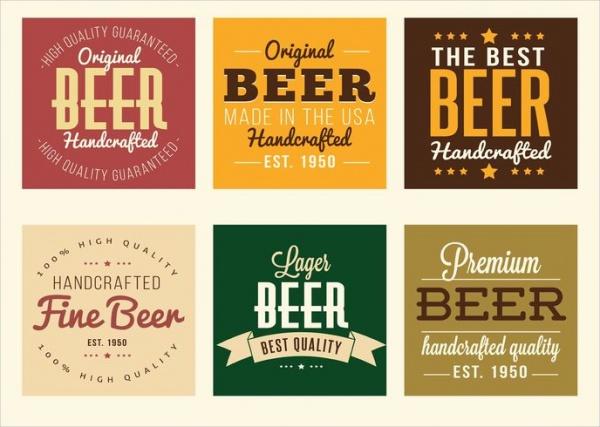 Set of Beer Labels