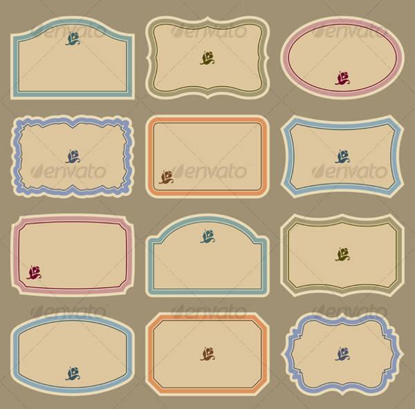 Set of Blank Labels