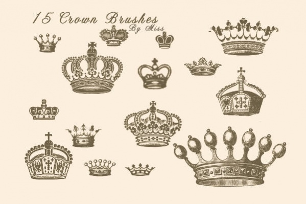 Set of Crown Brushes