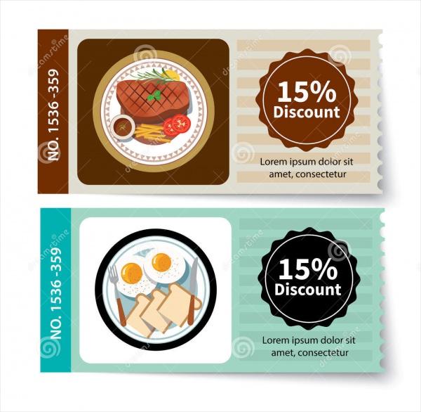 Set of Food Coupon Design