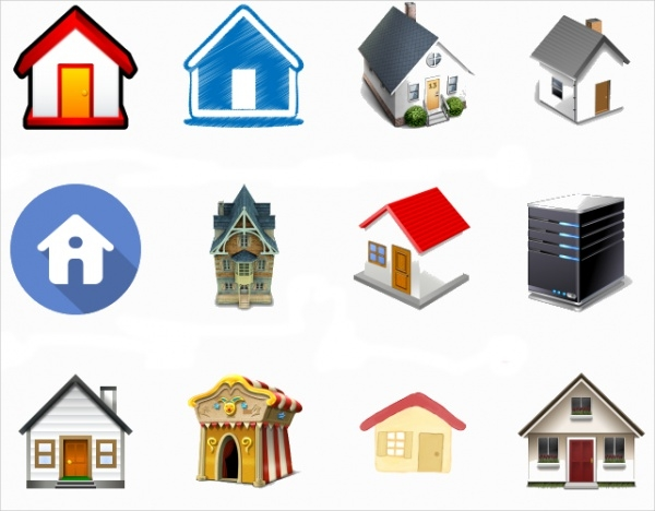 Set of Home Button Icon