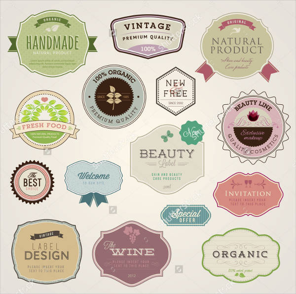 Set of Printable Vector Labels