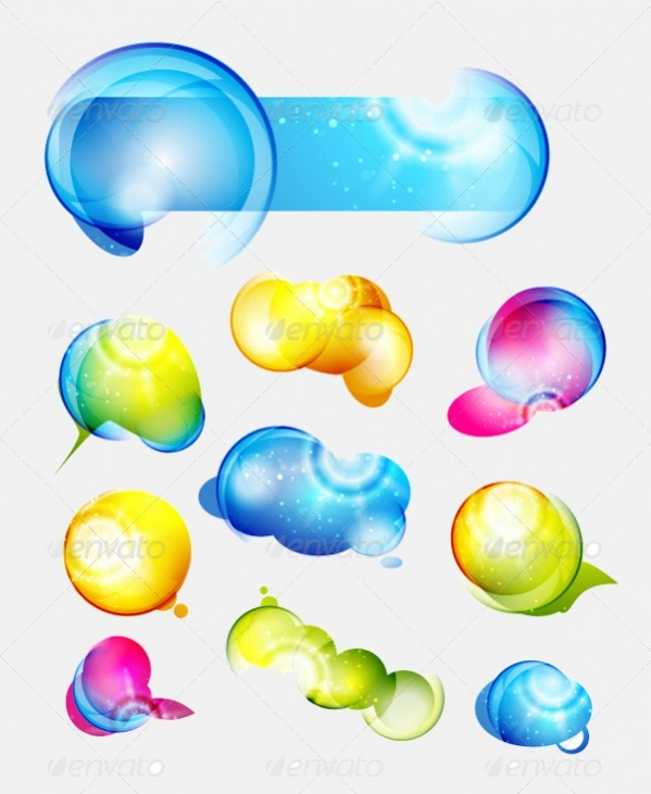 Shiny Abstract Vector Shapes