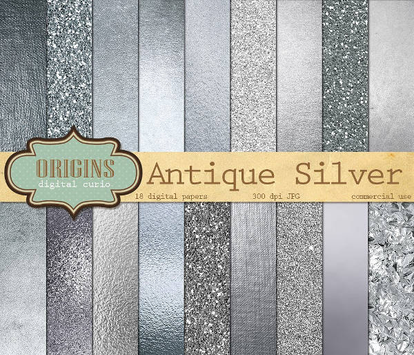 Shiny Silver Textures Pack