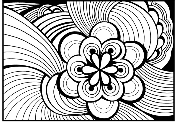 simple abstract coloring page