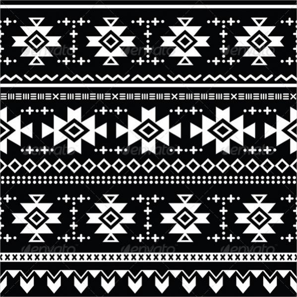 Simple Aztec Tribal Pattern