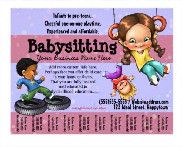 Simple Babysitting Flyer