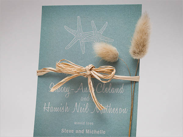 Simple Beach Wedding Invitation