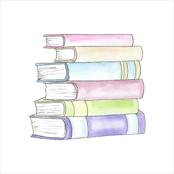 Simple Books Clipart