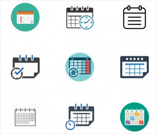 Simple Calendar Icons