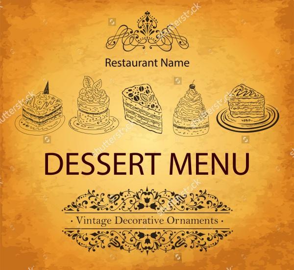 Simple Desert Menu Design