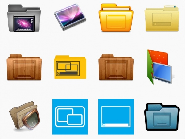 Simple Desktop Folder Icons
