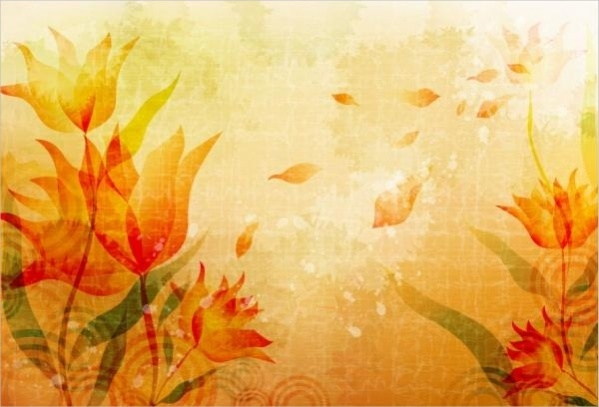 Simple Fall Flower Background
