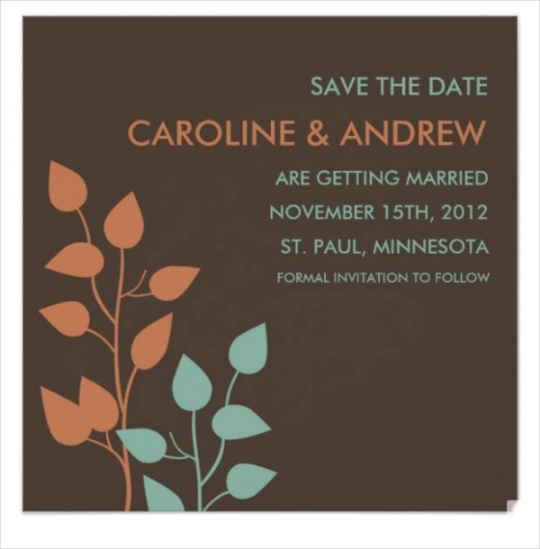 Simple Fall Wedding Invitation Design