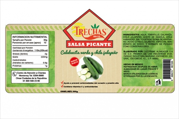 Simple Food Label Design