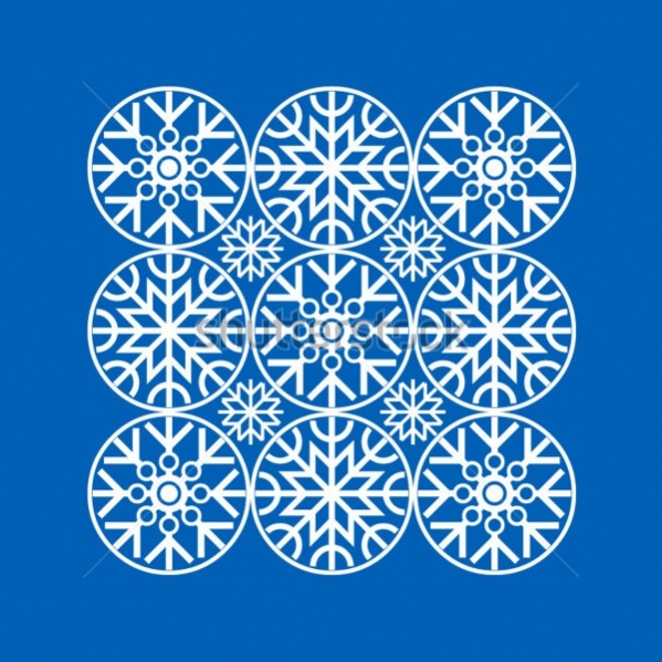 Simple Geometric Snowflake Pattern