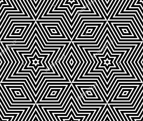 simple geometric stars pattern