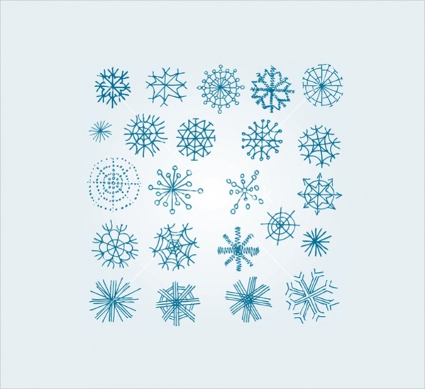 Simple Hand Drawn Snowflake Pattern