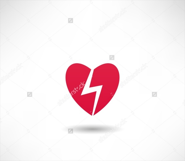 Simple Heart Icon Vector