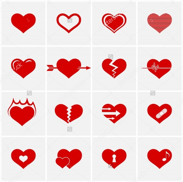 Simple Heart Icons