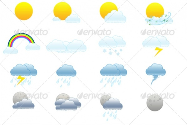 Simple High Quality Weather Icons
