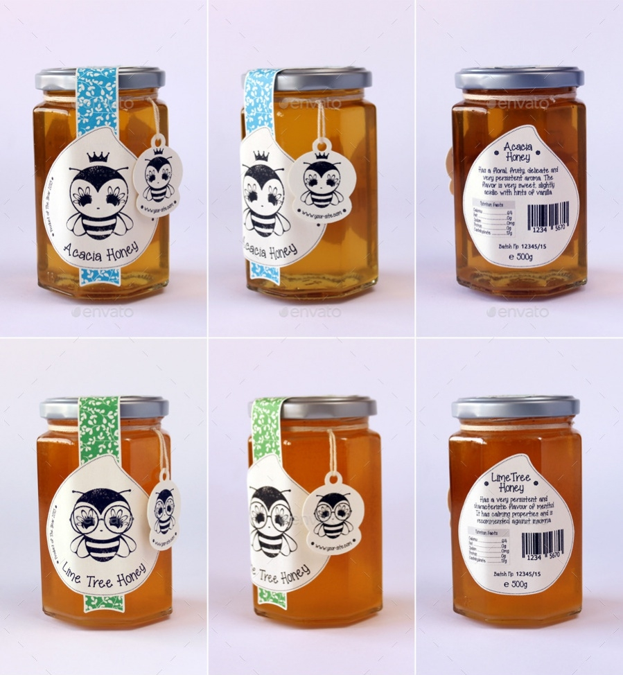 Simple Honey Label Designs