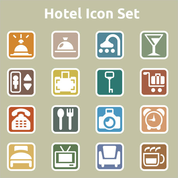 Simple Hotel Icons