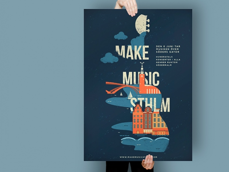 simple music poster design