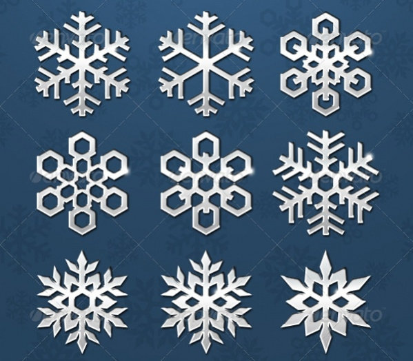 Simple PSD Snowflake Pattern
