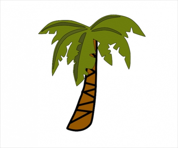 simple palm tree clipart