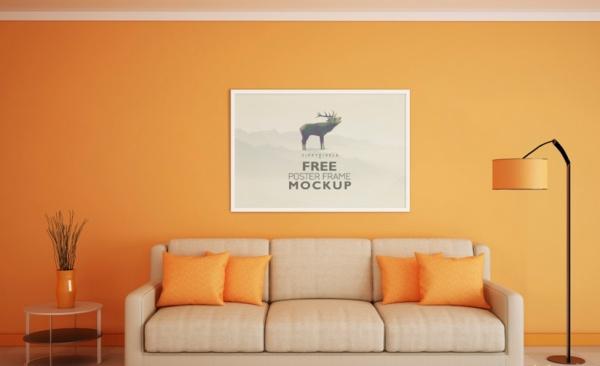Simple Poster Frame Mock up