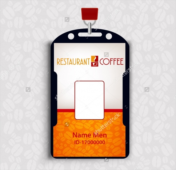 Simple Resturant Id Card