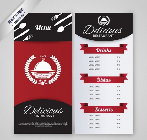 Simple Resturant Menu Design