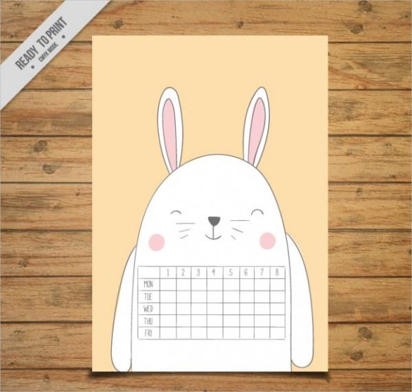 Simple School Calendar Design
