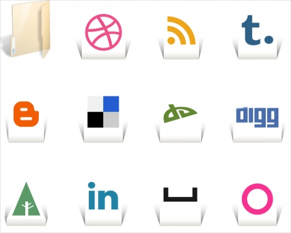Simple Transparent Folder Icons