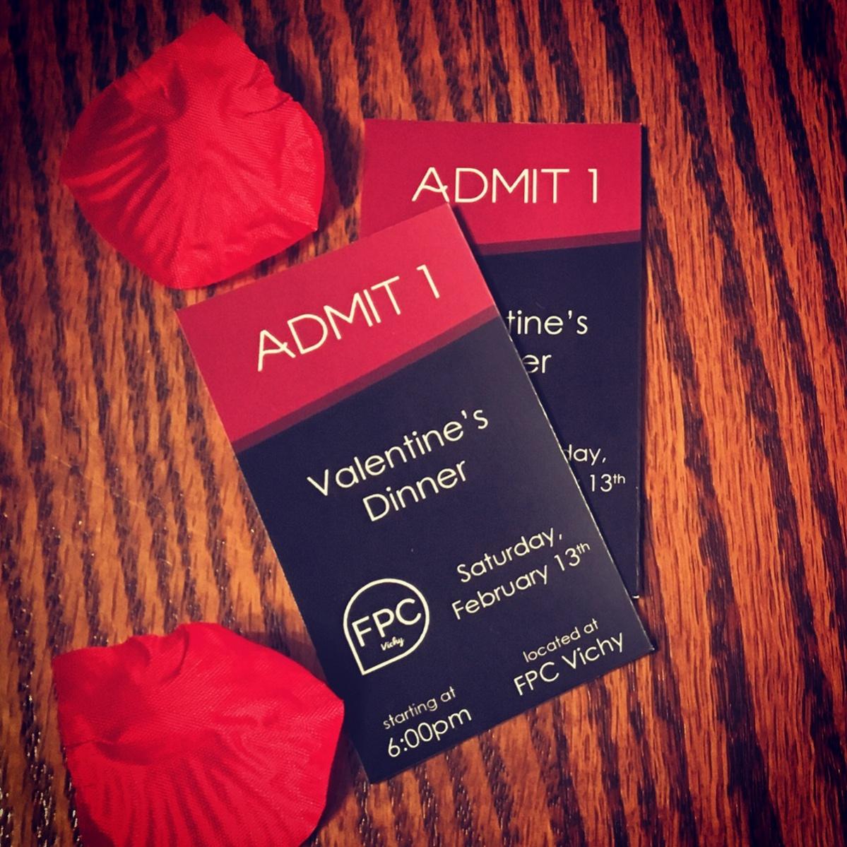 Simple Valentine Dinner Tickets