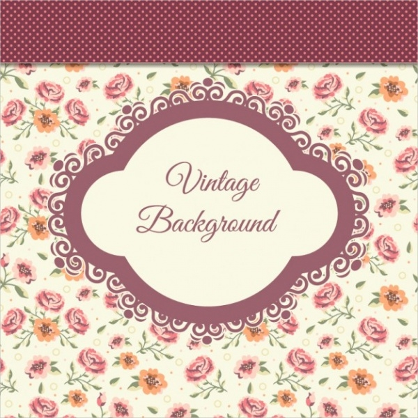 Simple Vintage Flower Backgrounds