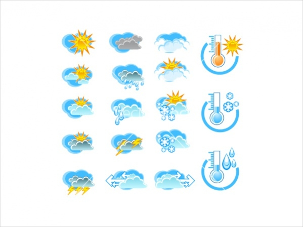 Simple Weather Forecast Icons